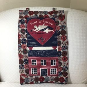 Heart of America Wall Decor Flag Country Chic